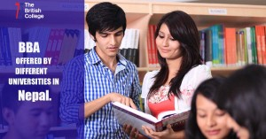 BBA Courses offered by different universities in Nepal.