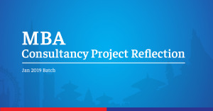 MBA Consultancy Project Reflection I