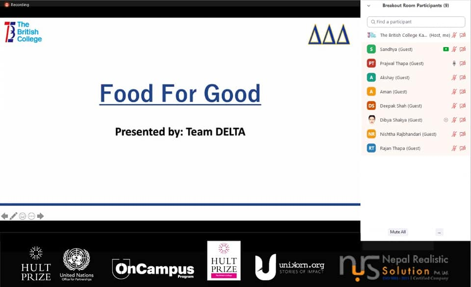 Hult Prize at TBC Idea Sharing Session - Post Event Reflection