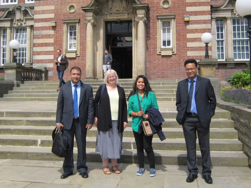 TBC student visits the Leeds Beckett University campus
