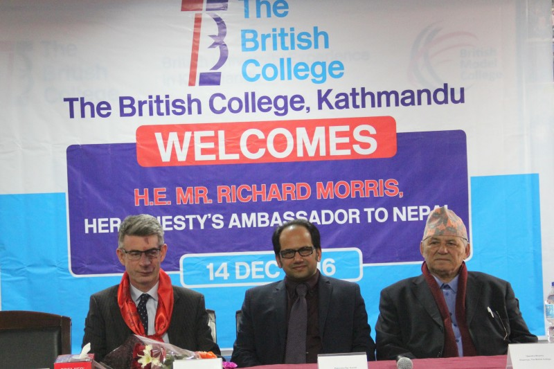 British Ambassador H.E. Mr Richard Morris visits The British College