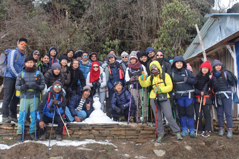 TBC students reach new heights at Mardi Himal Base Camp
