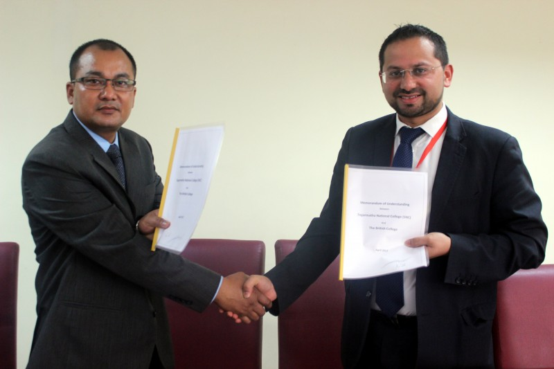 MoU between The British College and Sagarmatha National College