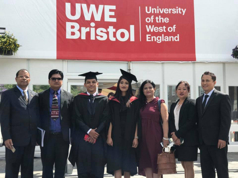 Students attend graduation at UWE, Bristol