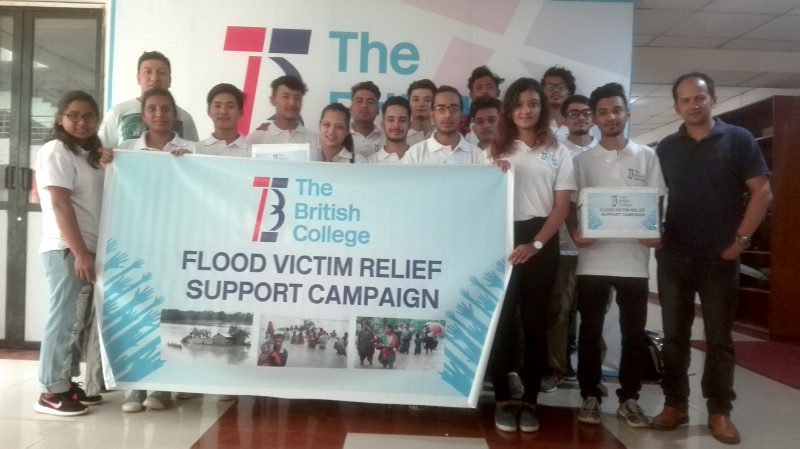 The British College students' helping hands for flood victims