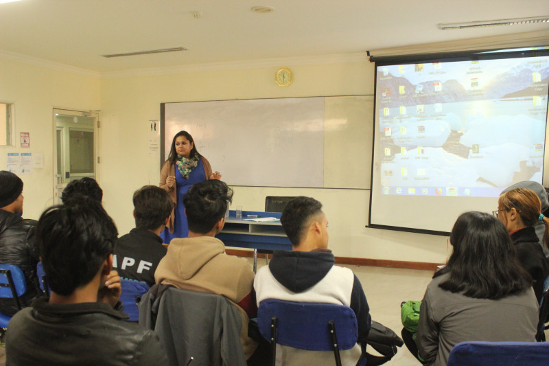 Personality Development Session for Level 3 Students.