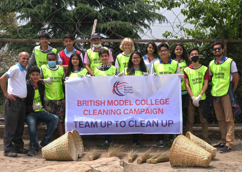British Model College Continues the Clean-Up Campaign