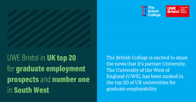 The British College's Partner - Top 20 in the UK